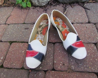 Shoes 1960 Mod Red, White, Blue