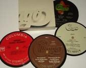 CHICAGO Record Coasters vinyl record drink coasters