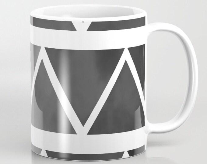 Black Modern Mug -  Coffee Mug - Original Art - Coffee Cup - Black Ombre - Black to Gray - 11 oz Mug - 15 oz Mug - Made to Order