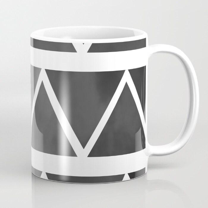 Black Modern Mug Coffee Mug Original Art Coffee Cup