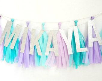 Frozen Inspired Glitter Tassel Banner - One Stylish Party