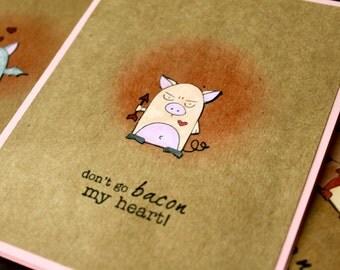Punny Valentine Card Set, Handmade Valentines, Funny Valentine Card, Handmade Card Set, Handmade cards, Cute Valentines Cards, Funny Animal