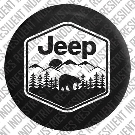 Jeep Spare Tire Cover Jeep Wrangler Bear Adventure Badge Jk Tj