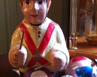 Vintage Christmas Paper Mache Toy Soldier