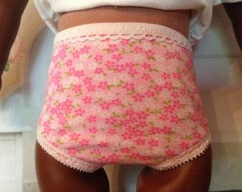 Pink flowered undies panties underwear for American Girl Doll
