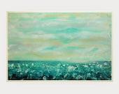 "Abstract Painting,Original Acrylic Painting,  Landscape Art, Modern Wall Art by M.Schöneberg  "" The ocean surf"" 36x24"