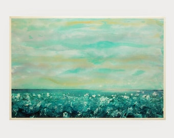 "Abstract Painting,Original Acrylic Painting,  Landscape Art, Modern Wall Art by M.Schöneberg  "" The ocean surf"" 36x24"