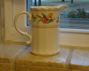 Mikasa Brywood Maxima creamer with a floral botanical pattern