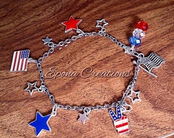 Memorial-Day-4th-of-July-Red-White-&-Blue-charm-bracelet .