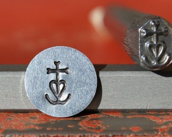 EXCLUSIVE Camargue Cross Steel Stamp Perfect for Metal Stamping and Jewelry Design  SGK-24