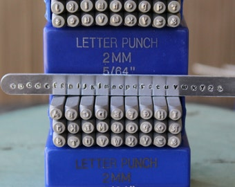 2mm Kristen - Playground Font Alphabet Letter Combination Stamp Set - Metal Stamp Set - Metal and Jewelry Stamping Tool - SGE-11UL