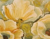 Large Original Painting - Floral Poppies - Contemporary Painting - 30 x 36 Inches