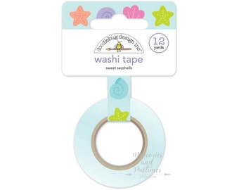 Sweet Seashells Washi Tape - Doodlebug - Under the Sea Collection - Planner Washi Tape Scrapbooking Embellishment Gift Wrapping - 534985