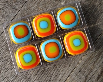 Magnets, Fused Glass Magnet, Fun Gift, Unique Gift, Small Gift, Gift For Her, Gifts Under 10, Teacher Gift, Gifts For Coworkers