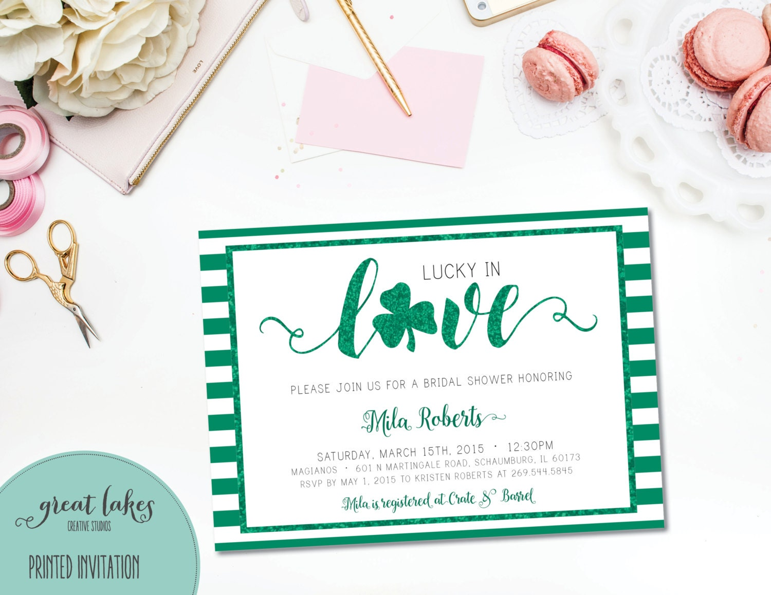 Lucky In Love Bridal Shower Invitation St Patrick 39 S Day