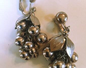 Funky Signed CELEBRITY Grape-Cluster Earrings
