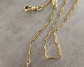 Antique/vintage 14 kt gold watch chain
