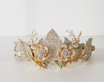 Rose Gold Leaf Crown, perfect for your wedding day or for races fashion