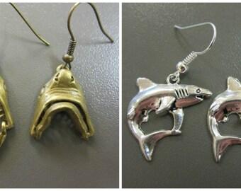 Shark Earrings - 2 Pairs of shark themed earrings