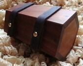 Wooden box for him - , black walnut and bog oak