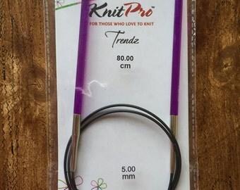 KnitPro Trendz Acrylic fixed circular knitting needles - 80cm length