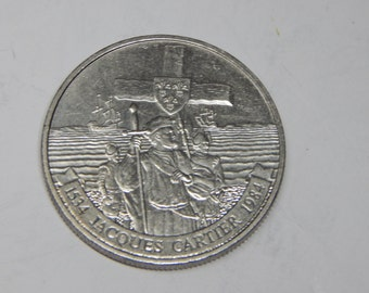 Canada One Dollar Silver Nickel coin, Jacques Cartier, 1534-1984 (2)