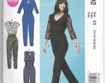 M7292 McCall's Jumpsuits and Belt Sewing Pattern Sizes 14-16-18-20-22