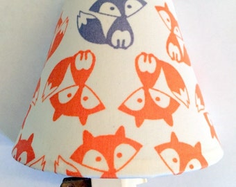 Fox Night Light / Plug In / Woodland / Forest Friends / Kid's Bedroom / Lighting / Baby Shower Gift Idea / Home Decor / Room  / Hallway