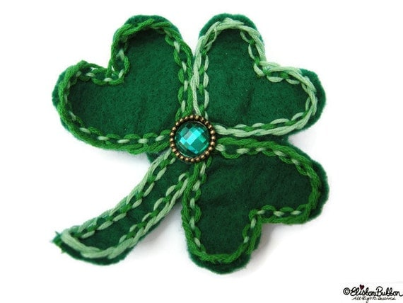 Felt Brooch Lucky St Patrick 39 S Day Shamrock Green