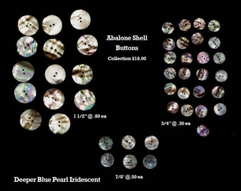 Abalone Button Collection