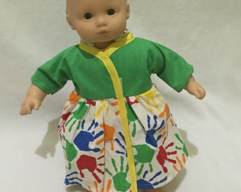 Bitty Baby Wrap Dress - Doll Clothes - Outfit for 15 Inch Doll