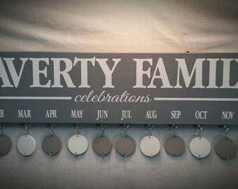 Family Birthday Board, Personalized Gift Ideas, Anniversary Gifts, Valentines Day Gift, Housewarming Gifts, Birthday Gifts, CUSTOM