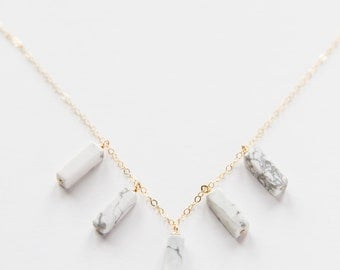 Gold Filled Howlite Necklace