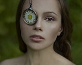 wedding, bridesmaids necklacesterrarium necklace, white flower, mariaela, boho, gypsy, terrarium necklaces,