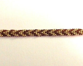 Glass Seed Bead Loom Bracelet