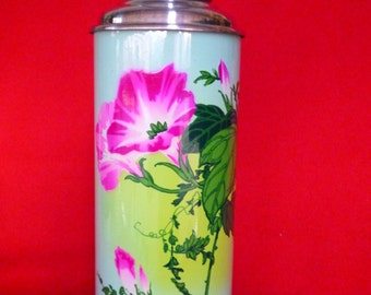 New Old Stock 70's Thermos - Vintage Thermos - Coffee Thermos - Cup Thermos - Tea Thermos - Travel Thermos 38 oz/1.15lt SUNFLOWER  Nr59