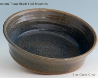 Pet Food or Water Bowl JUMBO Giant Breed Dog Ceramic Stoneware Handmade Pottery Multiple sizes Available in tan blue black white green