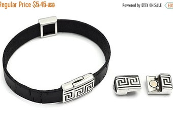 up to 40% Off 10MM GREEK Meander (KEY) Magnetic Clasp - Antique Silver - Qty. 1