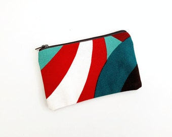 "Marimekko Spinning Zipper Pouch - Iphone Pouch - Colorful Coin Purse - Makeup bag - Cosmetic bags - Coin Pouch - Pochette - 15X9 cm (6X3.5"")"