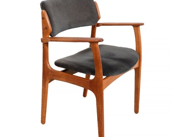Teak Arm Chair Erik Buck Danish Modern OD Mobler Dining Chair