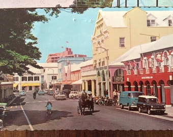 Set of 4 Vintage Bermuda postcards from the 70s, vintage postcards, ephemera, travel souvenirs