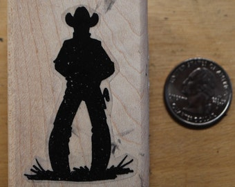 cowboy rubber stamp