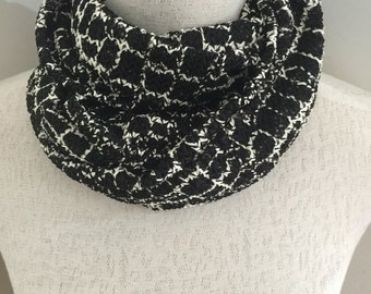 "Womens Black and White Scarf. This Design is Called the ""Connie"""
