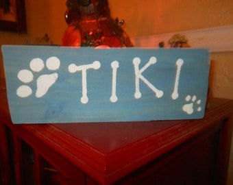 Personalized Pets Name Rustic Sign