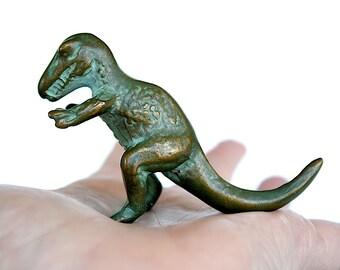 Tyrannosaurus Rex - Miniature Dinosaur Figurine - Dinosaur Decor- T Rex Dinosaur -Vintage Dinosaur Toy - Dinosaur Gift -SRG Bronze Dinosaur