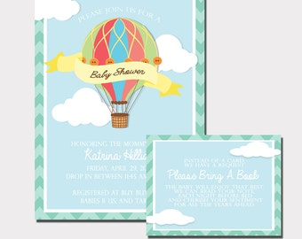 Hot air balloon baby shower etsy for Air balloon games