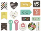 Simple Stories - Carpe Diem - Clips - 16 pieces - 4920