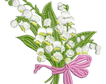 lilies of the valley - Machine Embroidery design