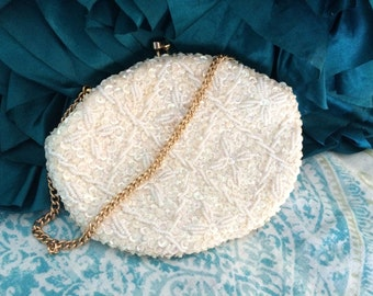 Vintage fully beaded evening bag