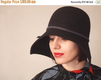 On sale Handmade hat / winter autumn women hat millinery 1920. style cloche/ Women fashion